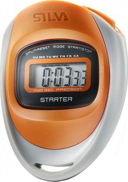 Секундомер Silva Stop Watch Starter, цвет: оранжевый56066Секундомер имеет четкую конструкцию и привлекательную форму. Он подходит для школ, ассоциаций и молодежных мероприятий, которые требуют простой и функциональный секундомер. Модель имеет наиболее важные основные функции, такие как разделение времени и часы.
