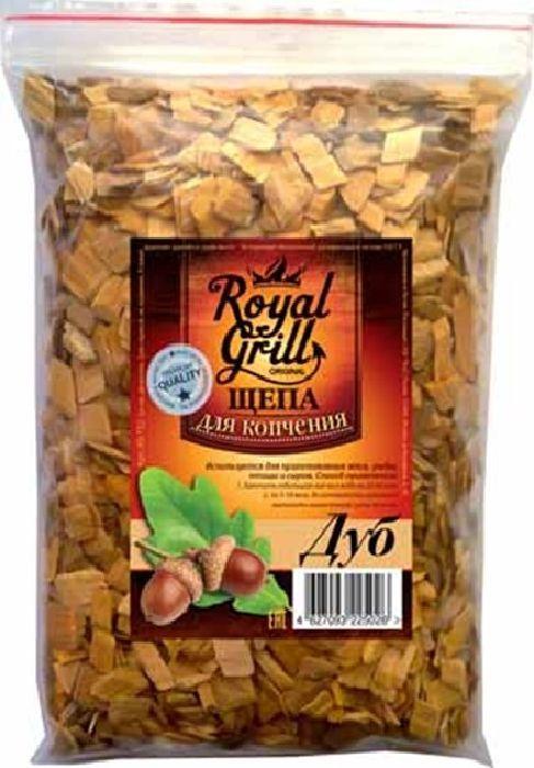 Щепа RoyalGrill Дуб, 1 л. 80-15280-152Щепа для копчения RoyalGrill изготовлена из древесины, прошедшей специальную обработку. Ее можно использовать не только для копчения продуктов в коптильнях, но и для придания вкуса и аромата блюдам из мяса, рыбы и птицы, приготовленным на гриле, мангале или на открытом огне.Вес: 230 г.