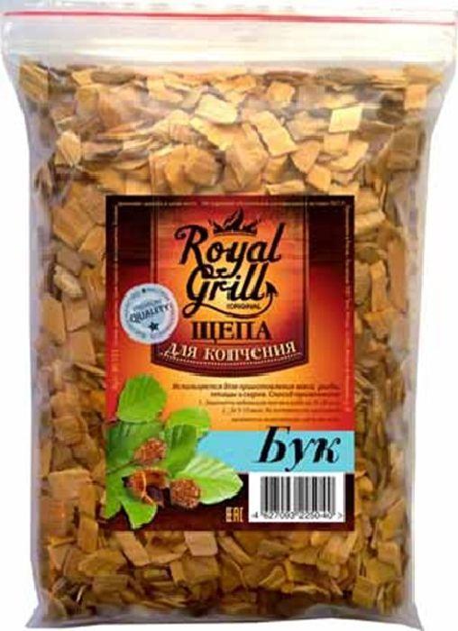 Щепа RoyalGrill Бук, 1 л. 80-15380-153Щепа для копчения RoyalGrill изготовлена из древесины, прошедшей специальную обработку. Ее можно использовать не только для копчения продуктов в коптильнях, но и для придания вкуса и аромата блюдам из мяса, рыбы и птицы, приготовленным на гриле, мангале или на открытом огне.Вес: 230 г.