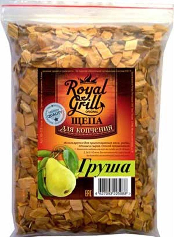 Щепа RoyalGrill Груша, 1 л. 80-15580-155Щепа для копчения RoyalGrill изготовлена из древесины, прошедшей специальную обработку. Ее можно использовать не только для копчения продуктов в коптильнях, но и для придания вкуса и аромата блюдам из мяса, рыбы и птицы, приготовленным на гриле, мангале или на открытом огне.Вес: 230 г.