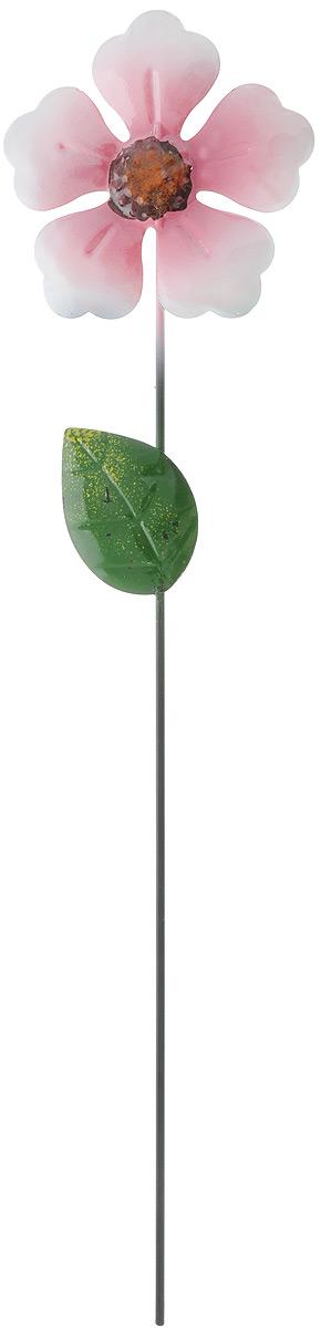 Декоративное садовое украшение Феникс-Презент изготовлено из металла и представляет собой палочку с фигуркой цветка наверху.  Декоративные садовые фигурки внесут завершающий штрих при создании ландшафтного дизайна дачного или приусадебного участка. Они позволят создать правдоподобную декорацию и почувствовать себя среди живой природы. Кроме этого, веселые и незатейливые, они поднимут настроение вам, вашим друзьям и родным.  Длина украшения: 41,5 см.  Диаметр фигурки: 10 см.