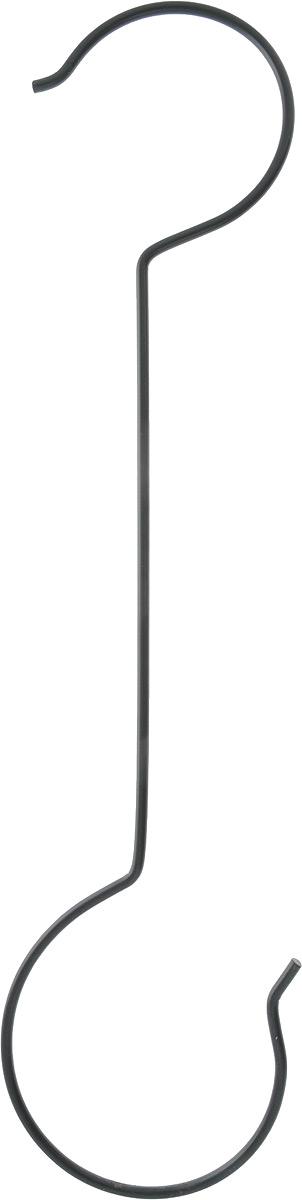 """Крюк хозяйственный """"Magic Home"""" прекрасно подойдет для кашпо и садового декора. Изготовлена модель из черного крашеного металла. Крючок не только выполнит свою основную функцию, но и украсит любой интерьер. Подходит для использования внутри и снаружи помещений. Размер: 15 х 50 см."""