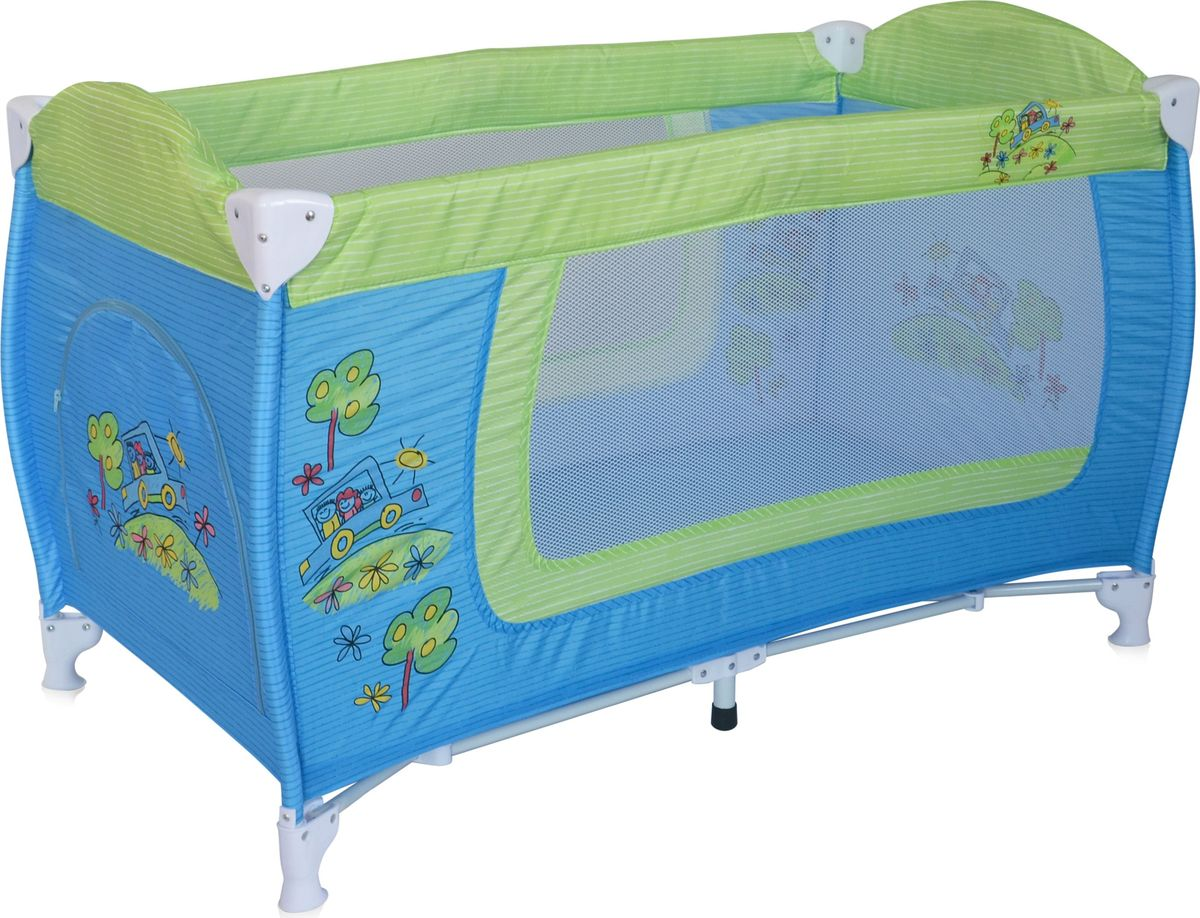 Lorelli Манеж Danny 1 цвет синий зеленый3800151960294Детский манеж-кровать для детей от 6 месяцев и до 3 лет. Яркие расцветки, приятны для мамы и малыша. Манеж безопасен для игр и сна малыша, надежная установка и безопасность. Манеж имеет боковой лаз на молнии, легкую систему складывания и раскладывания, сумку-чехол для переноски манежа. Матрасик в комплекте на дно манежа.