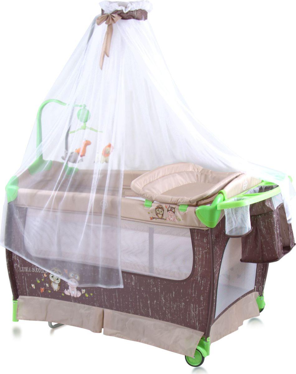 Lorelli Манеж-кроватка Sleep'N'Dream Rocker цвет бежевый -  Детская комната