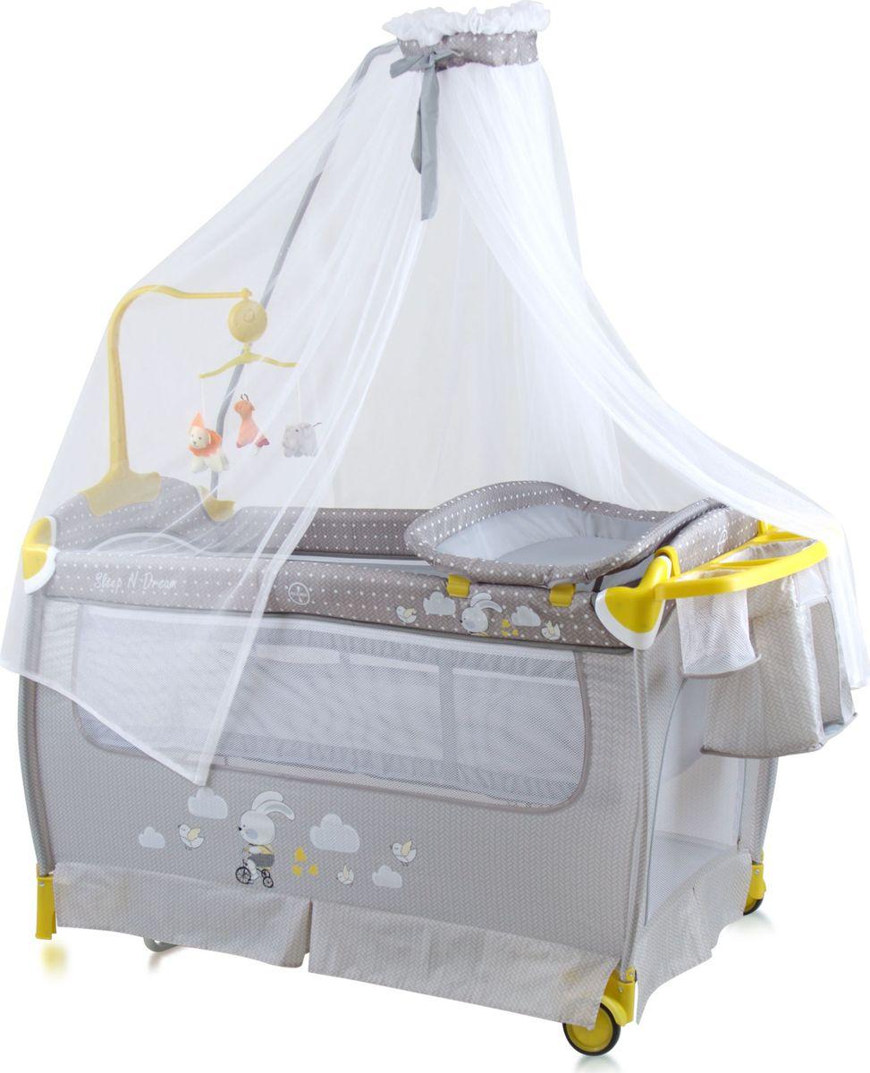 Lorelli Манеж-кроватка Sleep'N'Dream Rocker цвет серый -  Детская комната