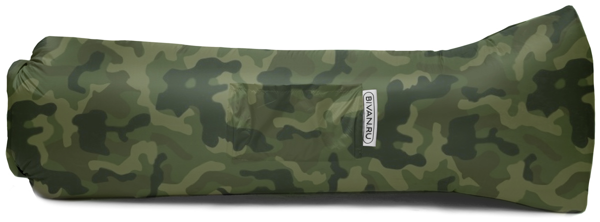 "Диван надувной ""Биван 2.0"", цвет: хаки, 190 х 90 см"