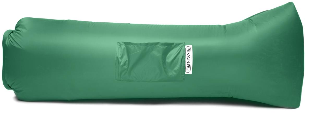 Диван надувной Биван 2.0, цвет: зеленый, 190 х 90 смBVN17-ORGNL-GRNБиван 2.0 - это надувной гамак (лежак, диван) второго поколения. Доработанная, более устойчивая и удобная форма. Добавлена мембрана, крепления для подсветки и колышков.Быстронадуваемый. Чтобы подготовить Биван к использованию, понадобится около 15 секунд. Какой насос? Кому теперь нужен насос?! Для любых поверхностей. Биван выполнен из прочного износостойкого текстиля со специальной пропиткой. Ему не страшны трава, камни, вода и песок. Лежите, где хотите. 12 часов релакса. Биван способен удерживать воздух более 12 часов, что позволит вам использовать его и для сна.