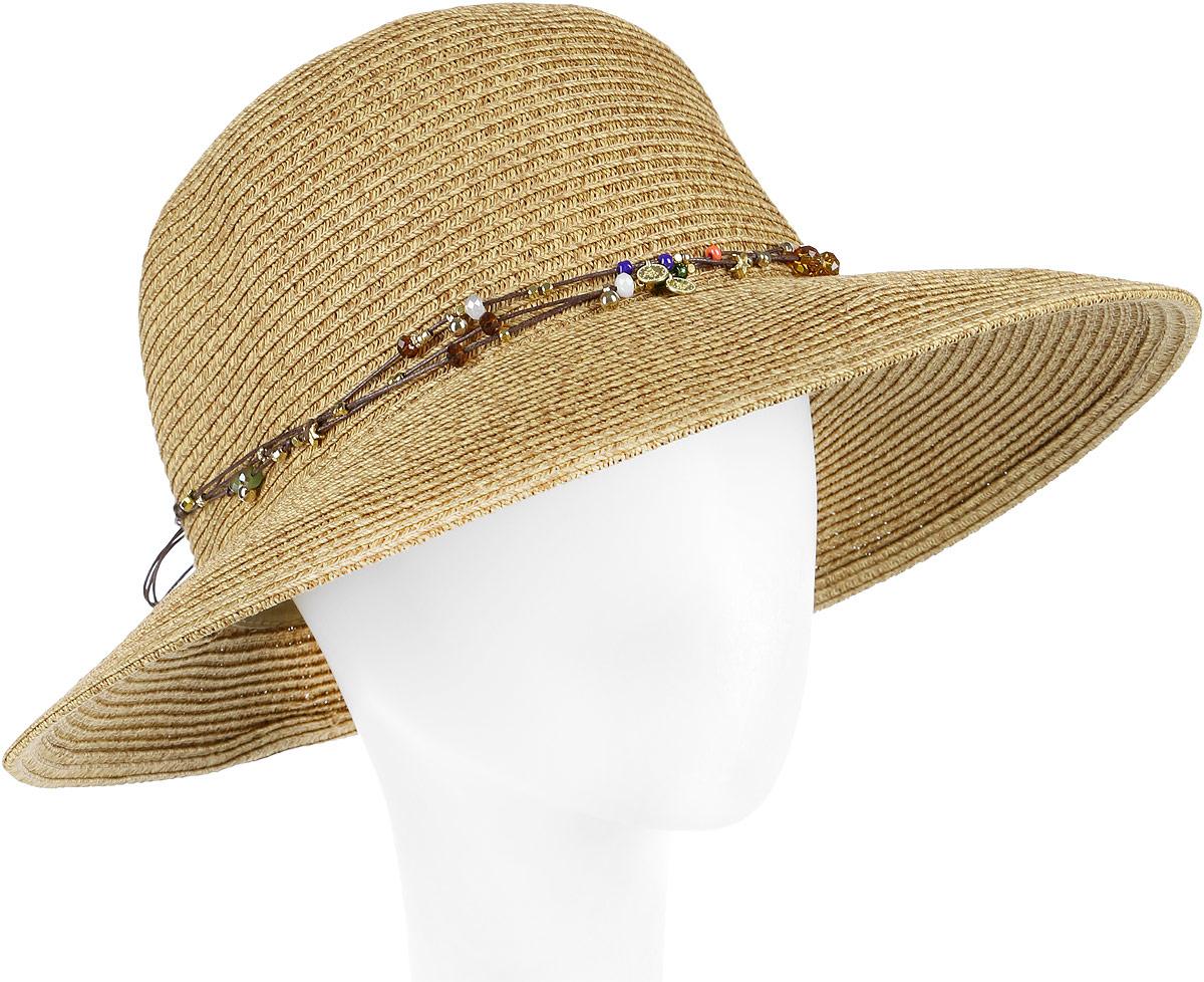 Шляпа женская Fabretti, цвет: бежевый. G18-3. Размер универсальный