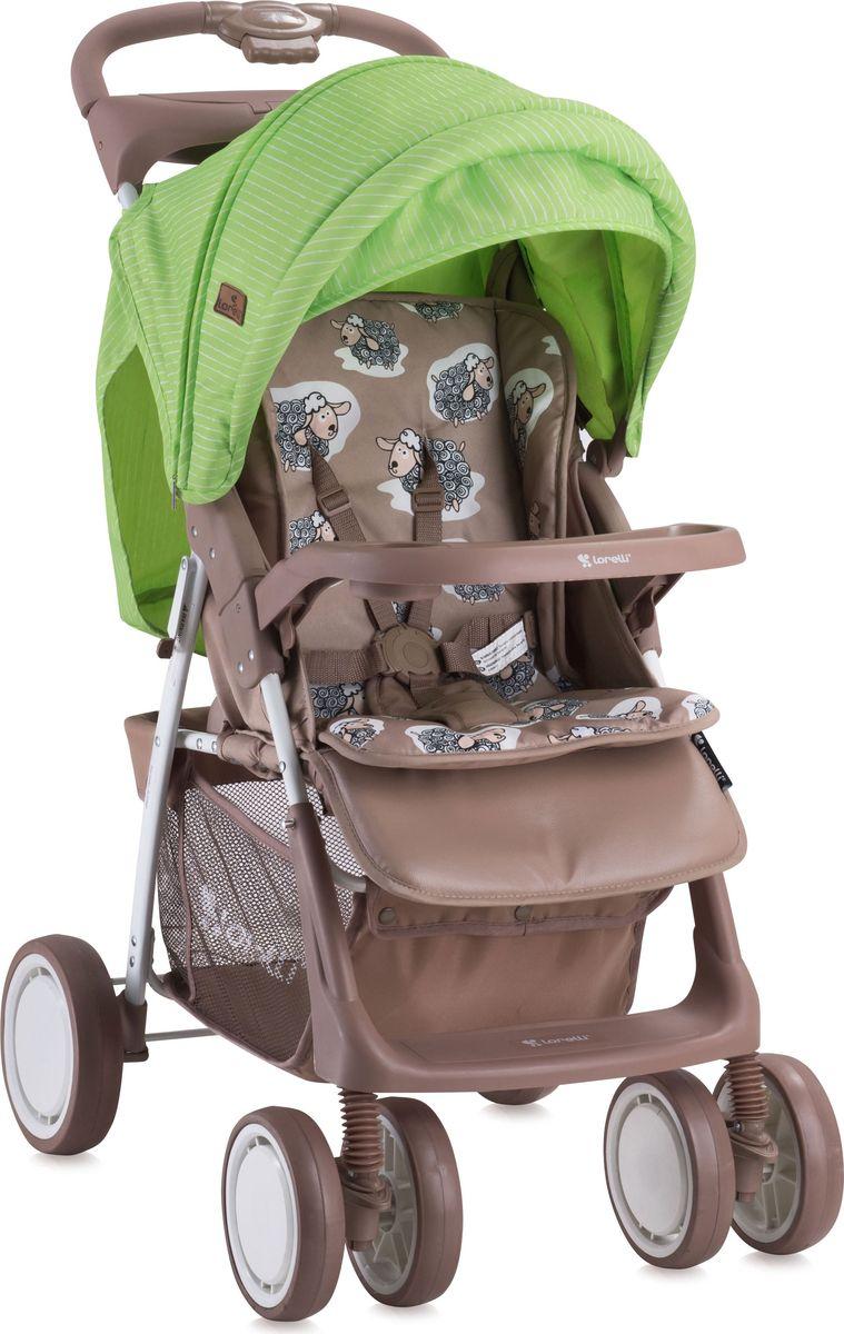 Lorelli Коляска прогулочная Foxy цвет бежевый зеленый