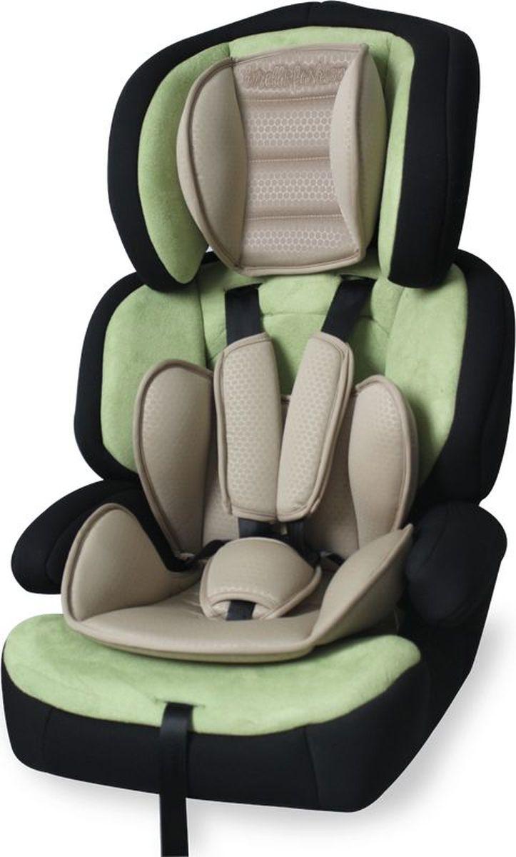 Lorelli Автокресло Junior Premium от 9 до 36 кг цвет зеленый бежевый3800151911494Автокресло от 9 до 36 кг среднего класса повышенной надежности, европейский стандарт безопасности ECE R44/04/3 . 5- точечный регулируемый по высоте ремень безопасности с мягкими накладками.Регулируемый по высоте подголовник, автокресло трансформируется в бустер. Приятное качество ткани с дополнительной мягкой вставкой для малышей. Широкое посадочное место, хорошо подходит для крупных деток или в период зимы ( когда ребенок одет в зимнюю одежду ). Установка в автомобиле, в зависимости от веса ребенка: от 9 до 15 кг – по направлению движения с внутренними ремнями безопасности; от 15 до 22 кг – по направлению движения со штатным ремнём безопасности; от 25 до 36 кг – по направлению движения без спинки, со штатным ремнём безопасности.