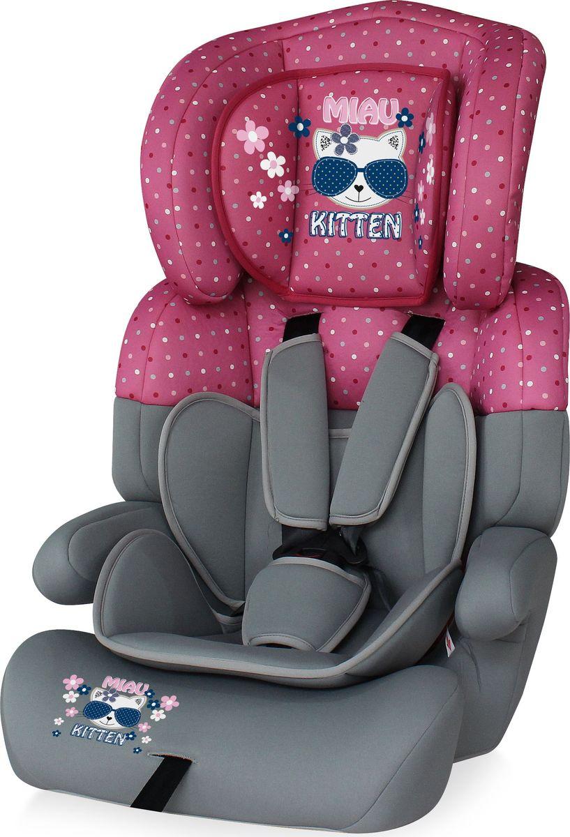 Lorelli Автокресло Junior Plus от 9 до 36 кг цвет серый розовый