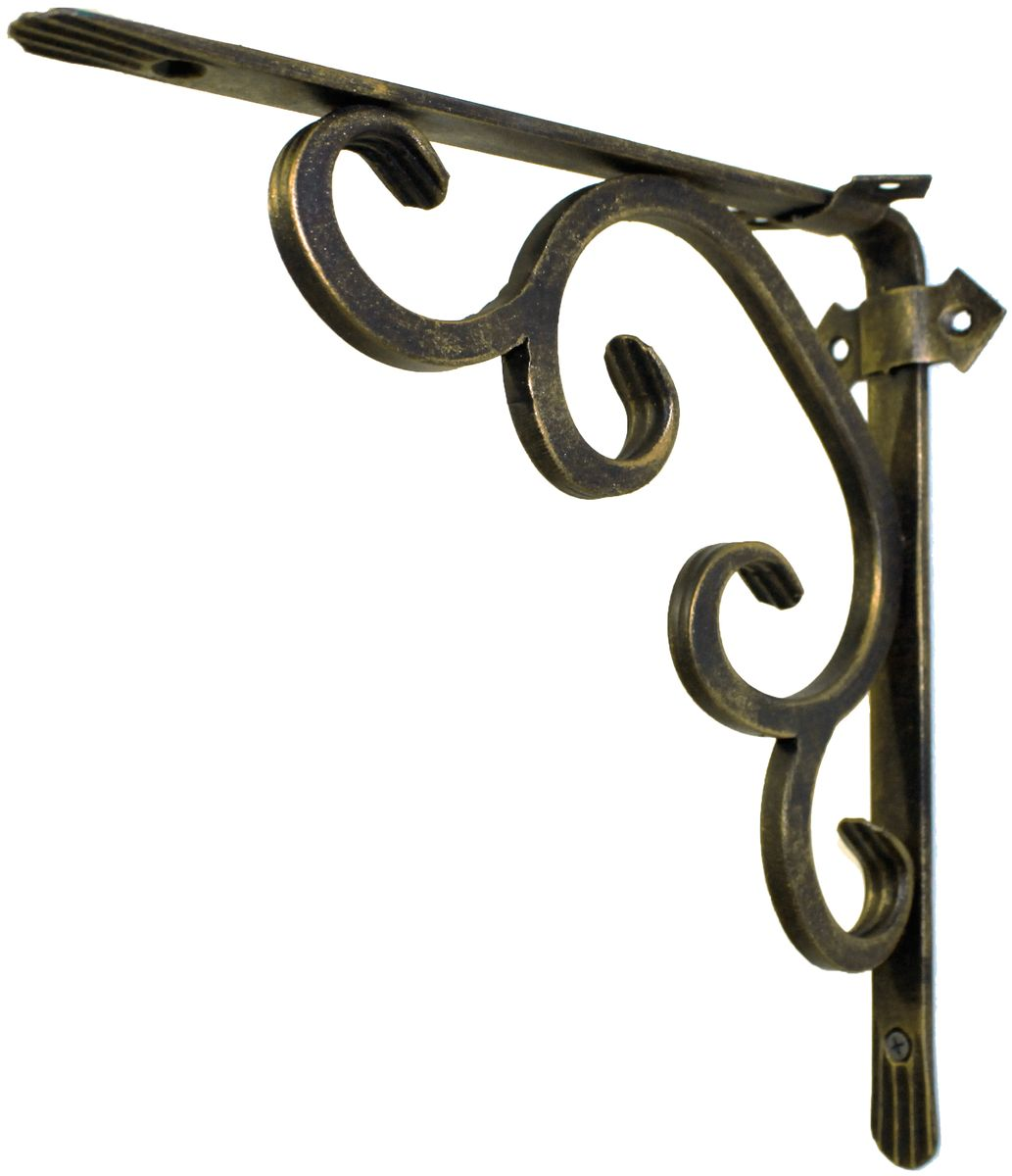 Держатель кованный для кашпо AVMmetall, цвет: черный, бронзовый. 250-2-bl-br250-2-bl-brКованный держатель для кашпо AVMmetall, изготовленный из высококачественной стали, декорирован золотой патиной. Изделие станет прекрасным украшением вашего сада. С его помощью вы сможете расположить корзину с цветами, а также установить полку в любом удобном месте: на даче, участке, на городском балконе и в других местах.Такой держатель с годами не потеряет своей привлекательности. При правильном монтаже выдерживает статичную нагрузку до 150 кг. Размер держателя (ДхШ): 25 х 25 см.