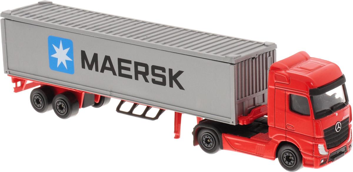 Majorette Машинка Транспортер цвет красный серый majorette creatix игрушечный трек starter pack