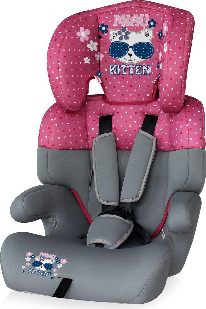 Lorelli Автокресло Junior от 9 до 36 кг цвет серый розовый