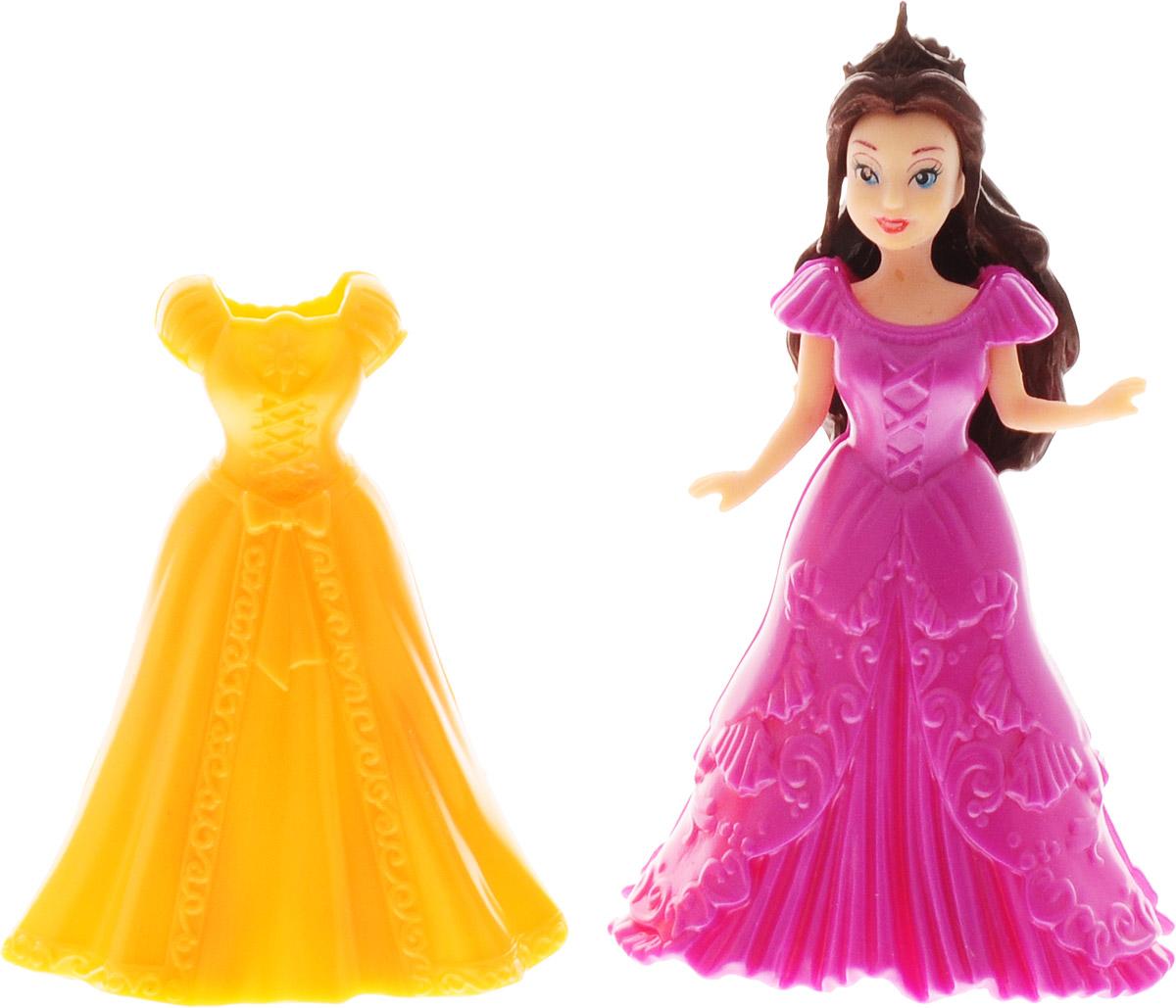 1TOY Мини-кукла Красотка цвет платья оранжевый фиолетовый 1toy кукла красотка фэшн с одеждой цвет платья оранжевый