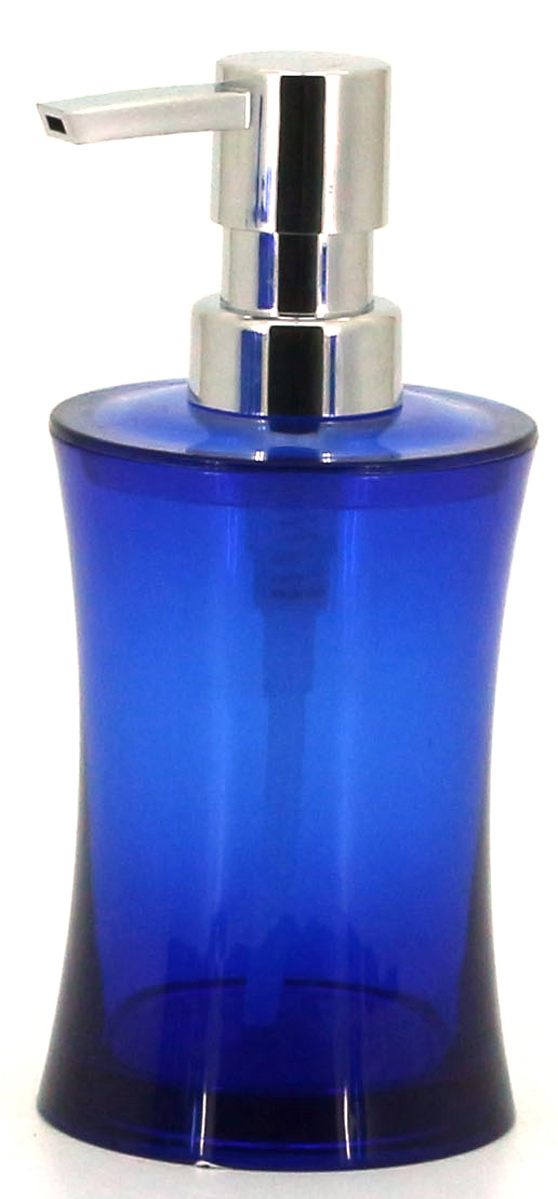 Диспенсер для жидкого мыла Коллекция Шик, цвет: синий