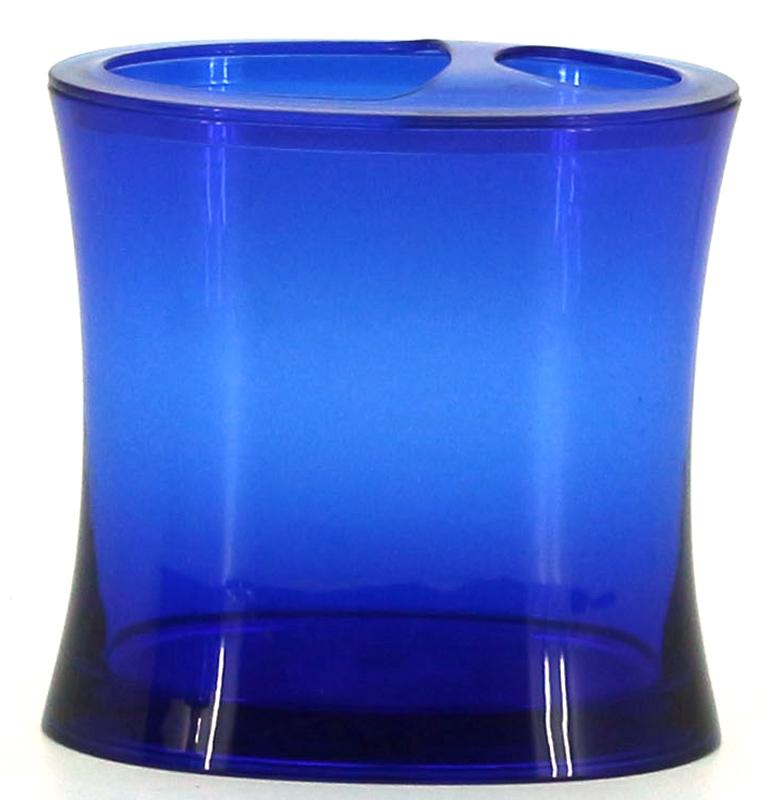 Стакан для зубных щеток Коллекция Шик, цвет: синийATP-461Стакан Коллекция Шик изготовлен из высококачественного полипропилена. В таком стакане удобно хранить зубные щетки, тюбики с зубной пастой и другие принадлежности. Стакан для ванной комнаты Коллекция Шик стильно украсит интерьер и добавит в обычную обстановку яркие и модные акценты.