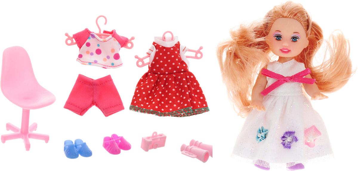 Defa Игровой набор с мини-куклой Happy Sairy Style цвет белый кукла defa lucy любимый малыш pink 5063pk