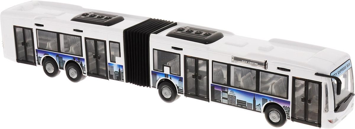 Dickie Toys Автобус-экспресс инерционный цвет белый dickie toys машинка bumblebee tin box