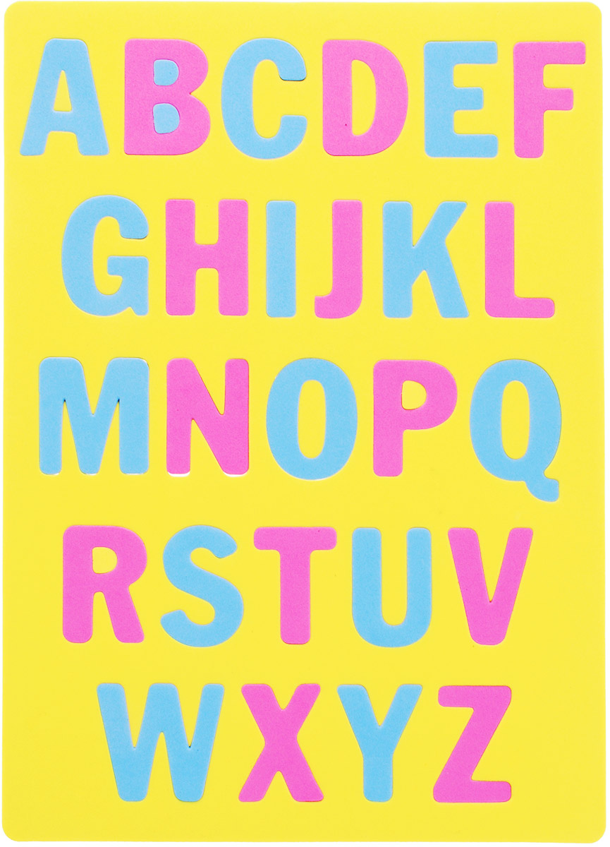 Апплика Пазл для малышей Английский алфавит цвет основы желтый флексика пазл для малышей попугай цвет основы красный
