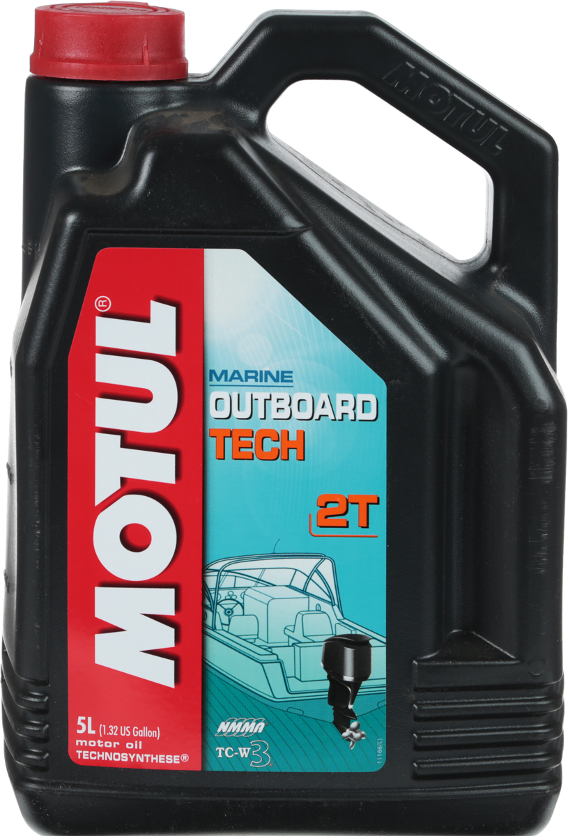 Масло моторное Motul Outboard Tech 2T. Technosynthese, 5 л моторное масло motul outboard 2t 1 л