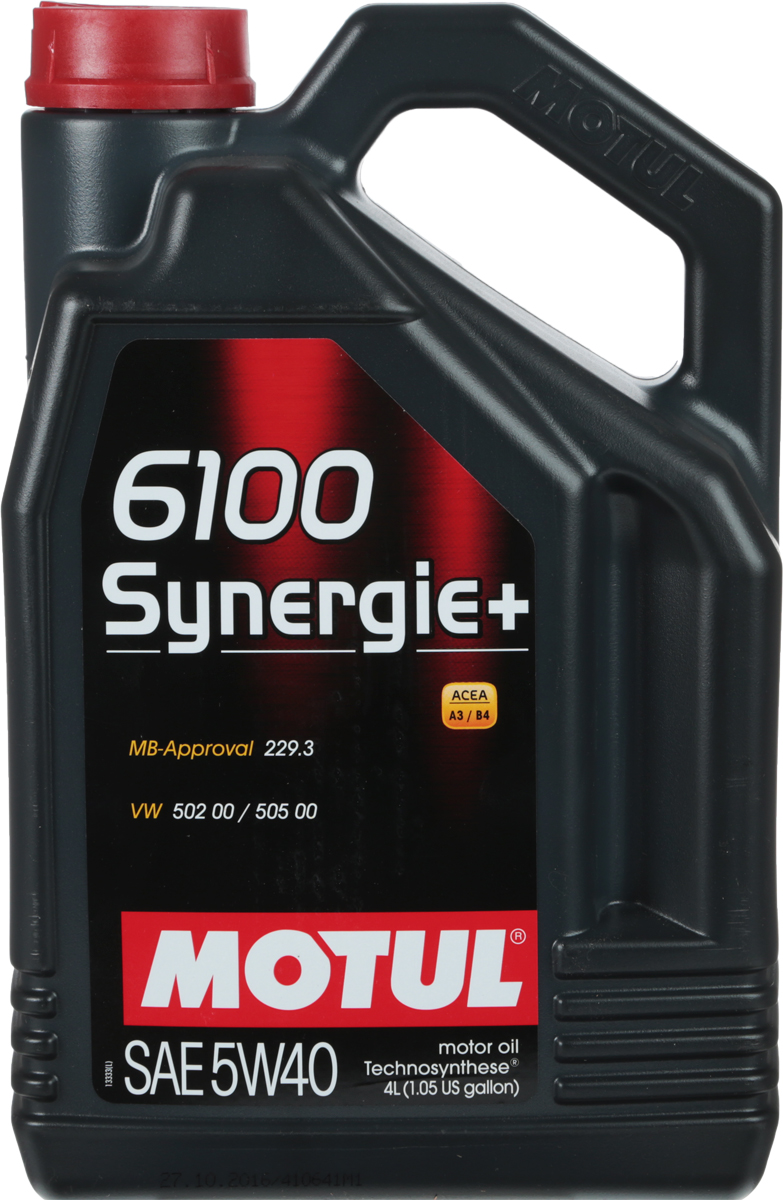 Масло моторное Motul 6100 Synergie+, полусинтетическое, 5W-40, 4 л