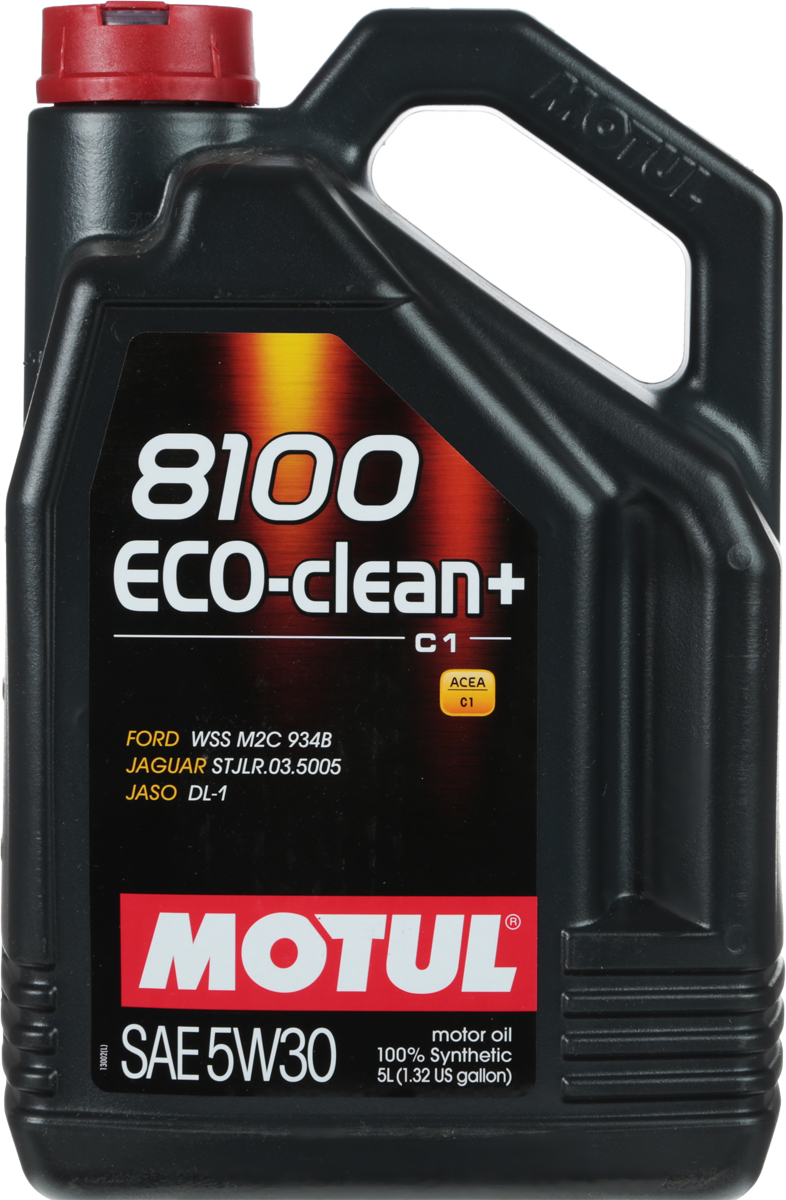 Масло моторное Motul 8100 Eco-Clean Plus, синтетическое, 5W-30, 5 л101584Моторное масло для бензиновых и дизельных двигателей стандарта Евро IV иЕвро V. 100% синтетическое. Энергосберегающее моторное масло. Специально разработано для автомобилей последнего поколения, оснащенныхбензиновыми двигателями и дизельными двигателями с непосредственнымвпрыском, отвечающих требованиям стандартов Евро IV и Евро V и требующихиспользования в них масла стандарта ACEA C1: масла с низкойвысокотемпературной вязкостью Low HTHS ( Совместимо с каталитическими конверторами и сажевыми фильтрами. Некоторые двигатели не предназначены для использования в них данного типамасел, поэтому перед использованием этого продукта необходимоознакомиться с руководством по эксплуатации автомобиля. ACEA Стандарты: ACEA C1 JASO Стандарты: JASO DL-1 Одобрения: FORD WSS M2C 934-B JAGUAR STJLR.03.5005
