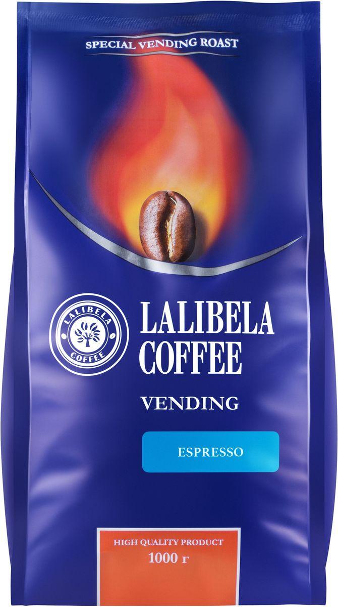 Lalibela coffeе Vending Espresso кофе в зернах, 1 кг33030Пленительный и крепкий, Lalibela Coffee Espresso порадует вас сочной цитрусовой кислинкой во вкусе и горчинкой в послевкусии. Побалуйте себя ароматной чашечкой изысканного кофе по традиционному итальянскому рецепту. Лишь безупречное сочетание лучших сортов арабики и робусты позволяет получить этот образец эспрессо, насыщенный и терпкий, как сама жизнь.
