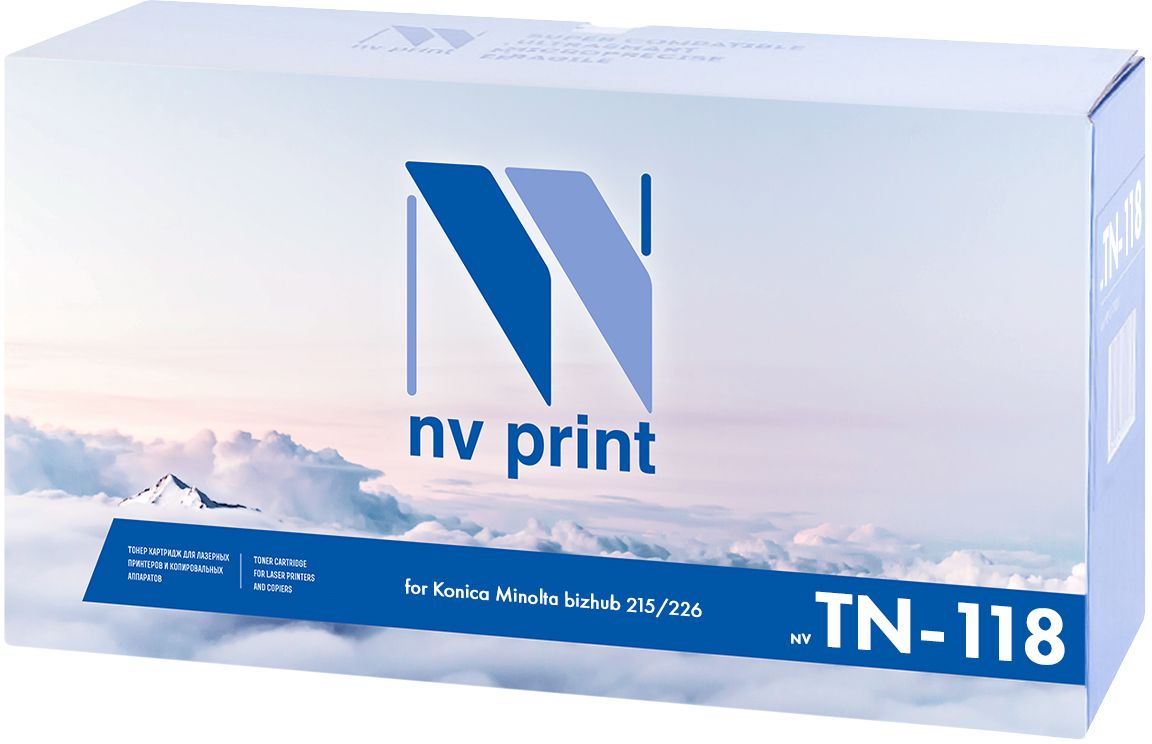 NV Print TN-118 тонер-картридж для Konica Minolta bizhub 215/226NV-TN-118Тонер-картридж NVP лазерный совместимый Konica Minolta, производитель NV Print, модель NV-TN-118 для Konica Minolta bizhub 215/226, ресурс 9000 копий