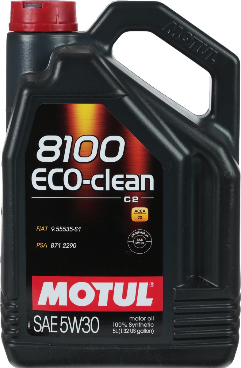 Масло моторное Motul 8100 Eco-Clean, синтетическое, 5W-30, 4 л