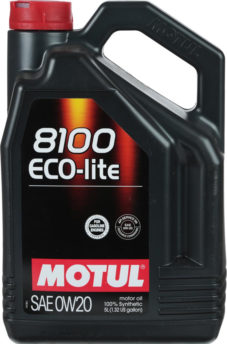 Масло моторное Motul 8100 Eco-Lite, синтетическое, 0W-20, 5 л104983100% синтетическое энергосберегающее моторное масло для современных бензиновых двигателей Honda, Mazda, Subaru и Toyota, а так же других азиатских производителей, требующих масло класса вязкости 20. API Стандарты: API SERVICES SN; ILSAC GF-6