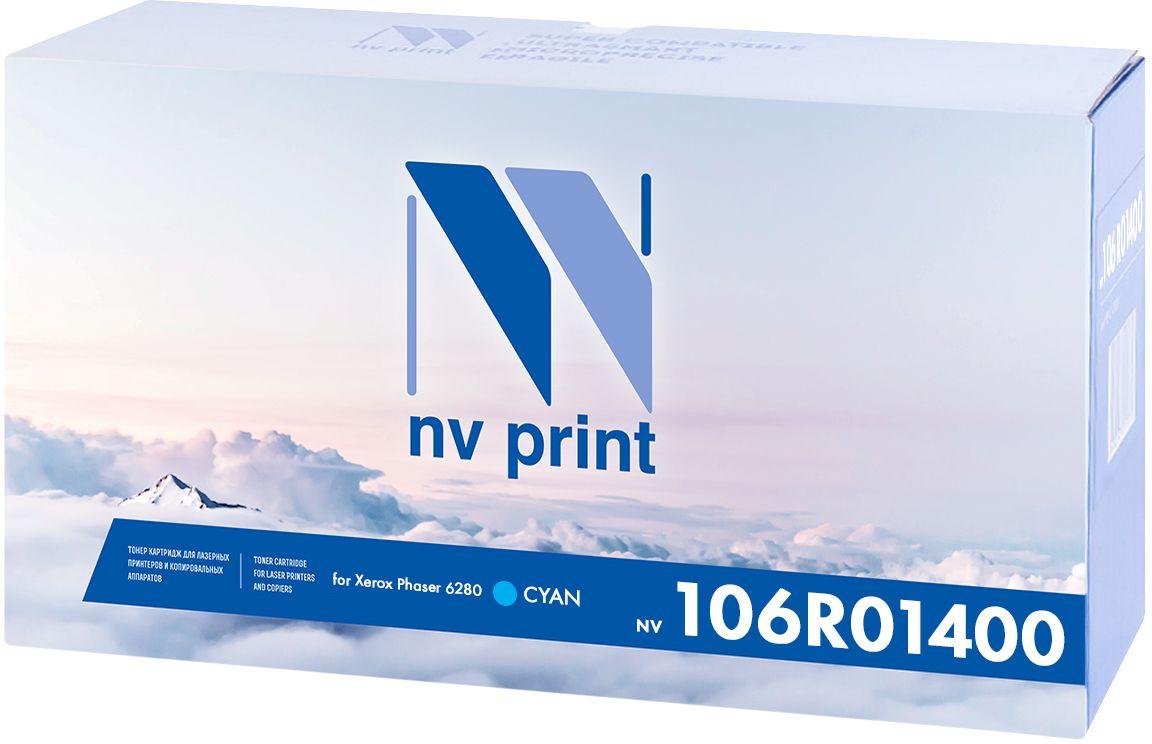 NV Print 106R01400C, Cyan тонер-картридж для Xerox Phaser 6280NV-106R01400CКартридж NVP лазерный совместимый Xerox, производитель NV Print, модель NV-106R01400 Cyan для Xerox Phaser 6280, ресурс 5900 копий