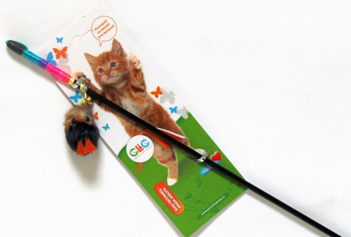 Игрушка-дразнилка для кошек GLG Птичка, длина 60 смGLG009Игрушка-дразнилка на пластиковой палочке GLG Птичка прекрасно подойдет для игр с кошками. Птичка выполнена из натурального меха.Длина палочки: 60 см. Уважаемые клиенты! Обращаем ваше внимание на цветовой ассортимент товара. Поставка осуществляется в зависимости от наличия на складе.
