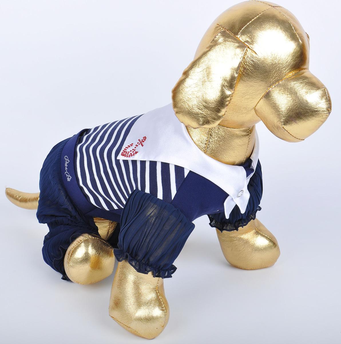 Комбинезон для собак GLG  Матросска , цвет: синий. Размер XS - Одежда, обувь, украшения