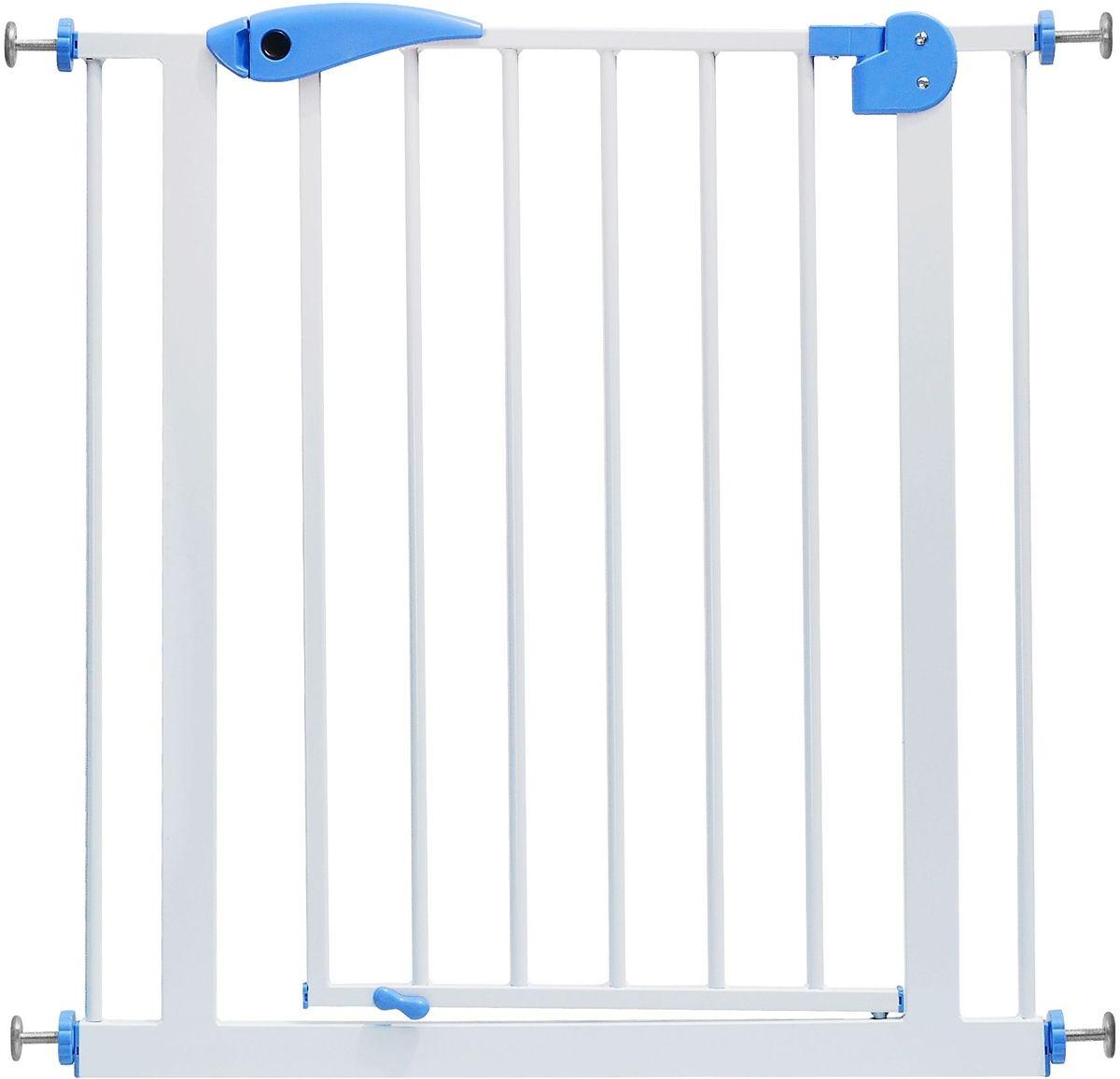 Baby Safe Барьер-калитка цвет синий белый 75-85 см