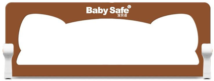 Baby Safe Барьер защитный для кроватки Ушки цвет коричневый 150 х 42 см baby safe барьер для кроватки ушки 180 х 42 см цвет синий