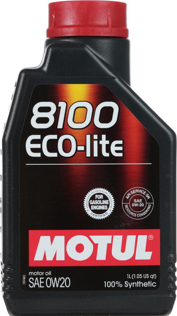 Масло моторное Motul 8100 Eco-Lite, синтетическое, 0W-20, 1 л104981100% синтетическое энергосберегающее моторное масло для современных бензиновых двигателей Honda, Mazda, Subaru и Toyota, а так же других азиатских производителей, требующих масло класса вязкости 20. API Стандарты: API SERVICES SN; ILSAC GF-5