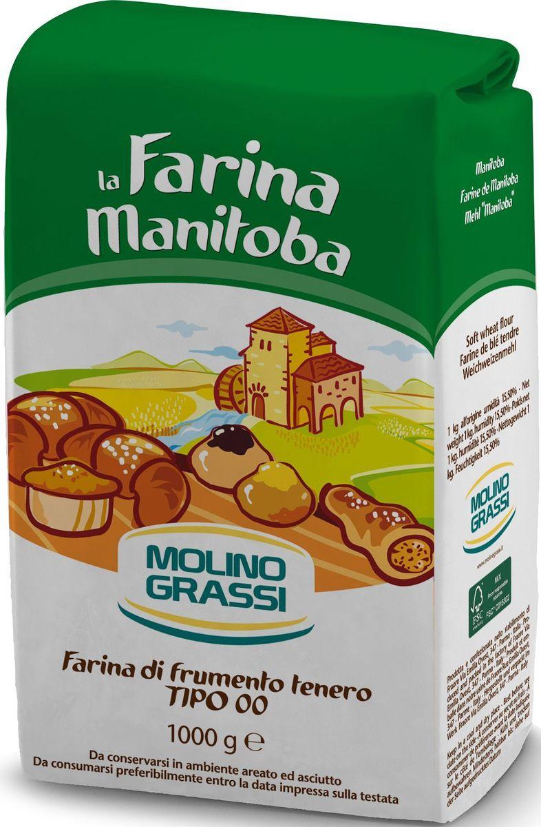Molino Grassi мука пшеничная из мягких сортов пшеницы 00, 1 кг мука пшеничная обойная пудов