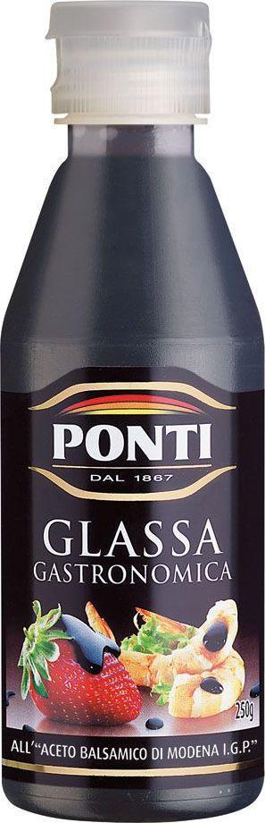 Ponti Di Modena топпинг бальзамический на основе уксуса, 250 мл2821Вкус и аромат вареного виноградного сусла, смешанный с неповторимым бальзамическим уксусом Модены, создают бальзамический топпинг. Он появился благодаря лучшим итальянским и европейским шеф-поварам, которые уже давно выпаривали бальзамический уксус, чтобы получить густой вкусный крем. Обладает великолепным кисло-сладким вкусом и является изысканным лакомством и позволяет подчеркнуть и усилить вкус самых разнообразных блюд.