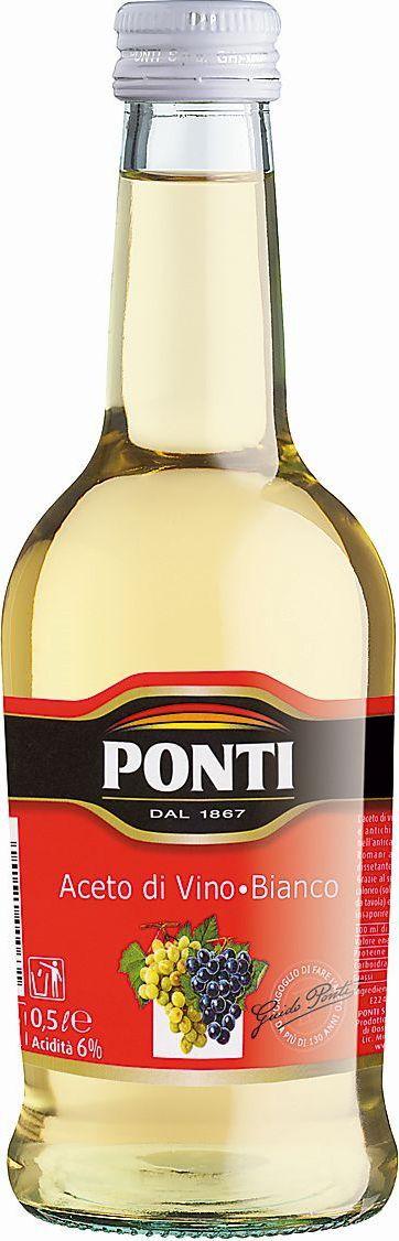 Ponti уксус винный белый 6%, 500 мл цены онлайн
