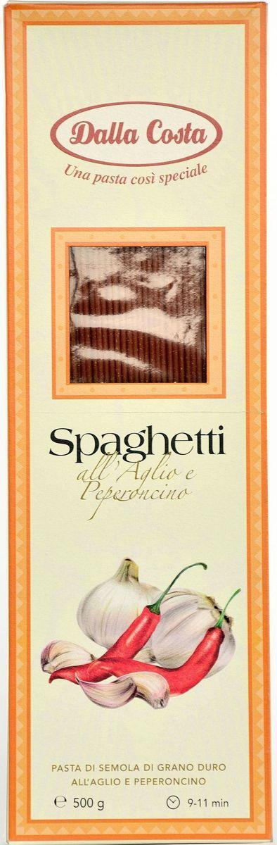 Dalla Costa Спагетти с чесноком и острым перцем, 500 г federici spaghetti спагетти 500 г