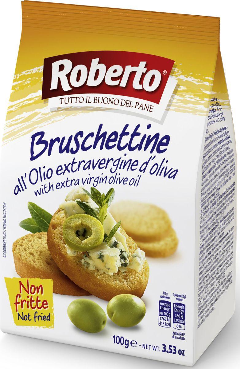 Roberto Брускеттине хлебцы хрустящие с оливковым маслом, 100 г
