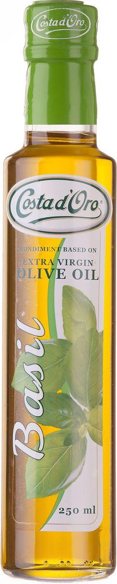 где купить Costa d'Oro Extra Vergine масло оливковое нерафинированное со вкусом и ароматом базилика, 250 мл дешево