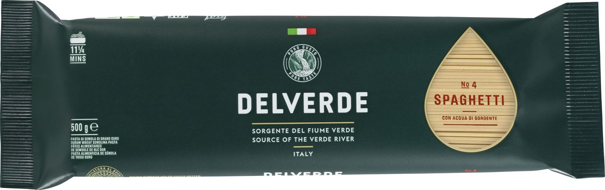 Delverde № 004 Спагетти, 500 г maltagliati spaghetti спагетти макароны 500 г