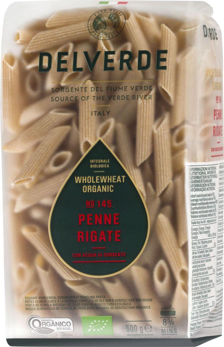 Delverde № 145 паста Пенне Ригате Биолоджика с отрубями, 500 г melissa паста пенне ригате коричневые перья 500 г