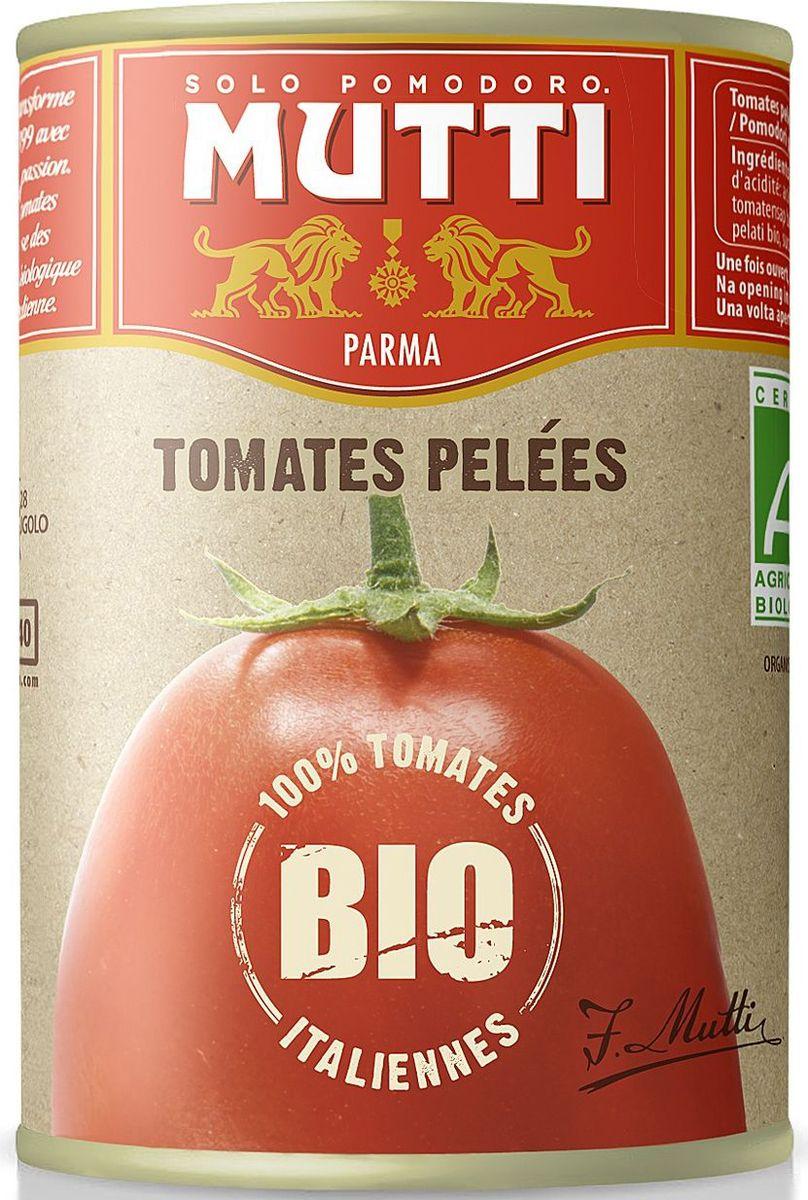 Mutti Томаты очищенные целые в томатном соке БИО, 400 гМС-00003441Томаты очищенные целые в томатном соке БИО Мутти изготавливаются из экологически чистых ингредиентов, обладают насыщенным цветом и ароматом! Идеальный компонент для изысканных блюд средиземноморской кухни!История компании Мутти началась в 1899 году, в регионе Эмилия Романья, которая с давних времен славится своей изысканной кухней.Компания Мутти – производитель, прошедший путь от небольшой сельскохозяйственной фабрики до крупного производителя с мировым именем благодаря высшему качеству продукции и любви к своему делу.Превознести томат до самых его вершин… - в этой фразе раскрывается суть компании Мутти, поэтому сегодня, также как и в прошлом, с той же страстью и вниманием семья Мутти производит высококачественную продукцию, разрабатывая новые рецепты и совершенствуя вкус томатов. Семьей Мутти придумана томатная паста в тюбиках, томатный уксус, первыми были выпущены на рынок резанные кубиками томаты (polpa), секрет производства которых держится в строжайшей тайне.Компания Мутти стала первой среди производителей выпускать всю продукцию под знаком интегрированная и сертифицированная продукция.Pomodorino dOro - приз за лучший урожай. Ежегодно 200 крестьян соревнуются в качестве помидоров.