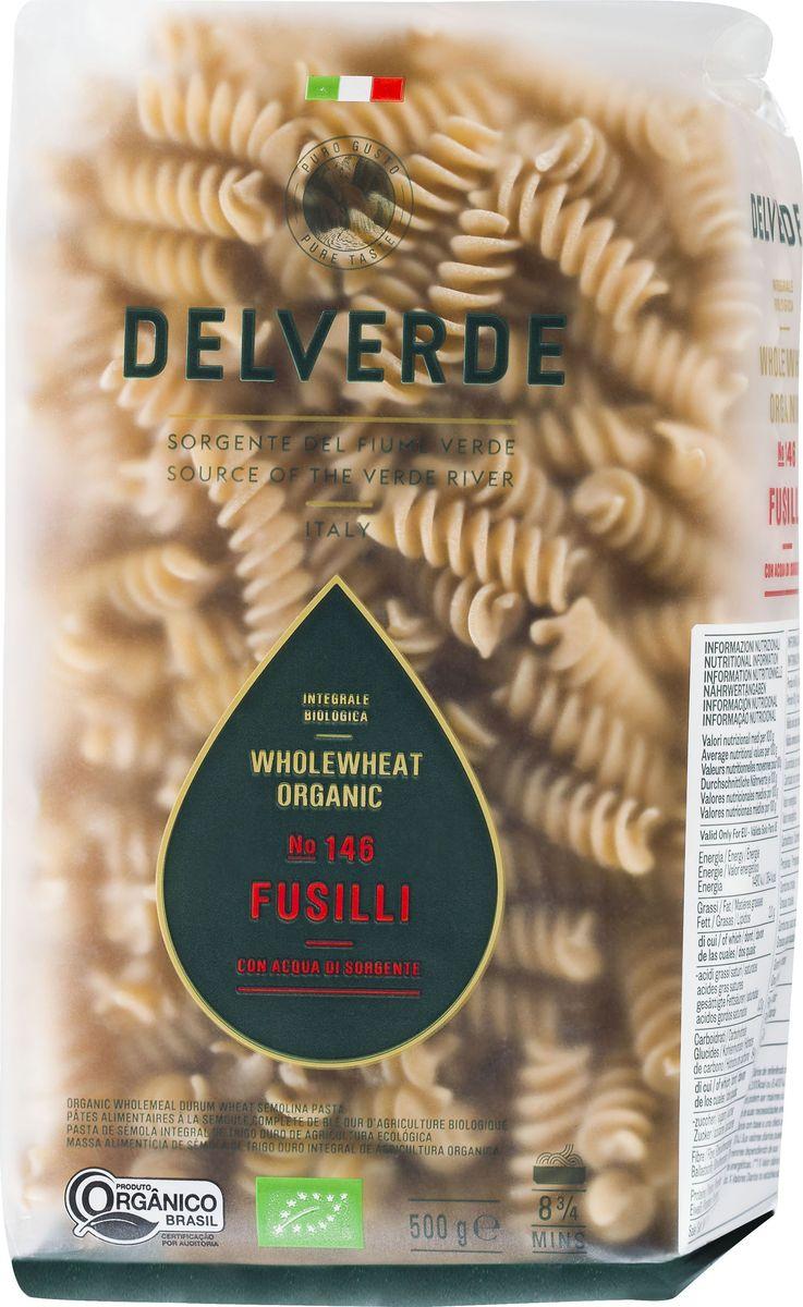 Delverde № 146 паста Фузилли Биолоджика с отрубями, 500 г