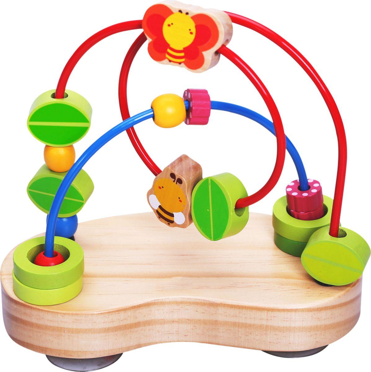 Vulpi Обучающая игра Лабинирт с деревянными бусинами