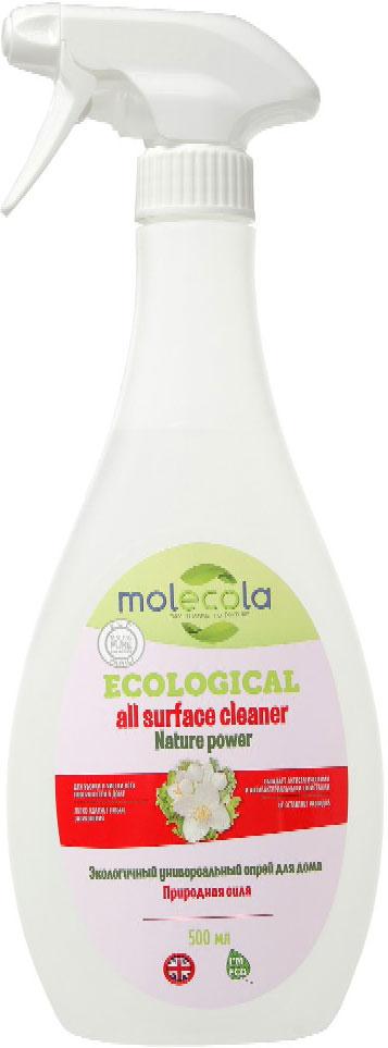 """Универсальный спрей для дома Molecola """"Nature  Power"""" для уборки в доме легко удаляет любые  загрязнения с деревянных, пластиковых,  стеклянных, никелированных и других  поверхностей. Обладает антистатическими и  антибактериальными свойствами. Препятствует  накоплению пыли. Устраняет и предотвращает  появление неприятных запахов. Подходит для  уборки в детских комнатах. Безопасен для кожи и  дыхательных путей. Рекомендовано людям,  имеющим аллергическую реакцию на средства  бытовой химии. Не оставляет разводов. Обладает  антистатическими и антибактериальными  свойствами.   Состав: Вода, глицерин,   5% амфотерные ПАВ,   Товар сертифицирован.      Уважаемые клиенты!  Обращаем ваше внимание на возможные изменения в дизайне упаковки. Качественные характеристики товара остаются неизменными. Поставка осуществляется в зависимости от наличия на складе.        Как выбрать качественную бытовую химию, безопасную для природы и людей. Статья OZON Гид"""