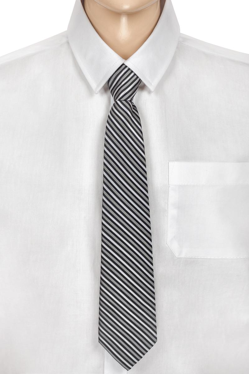 Галстук для мальчика Brostem, цвет: серый, черный, белый. CCAL2002-20. Размер универсальныйCCAL2002-20Модный галстук для мальчика Brostem изготовлен из полиэстера. Обхват шеи регулируется с помощью пластикового фиксатора. Галстук оформлен оригинальным принтом.